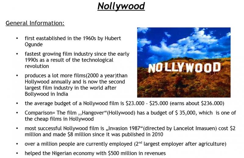 LK-Handout zu Nollywood (Nigeria)